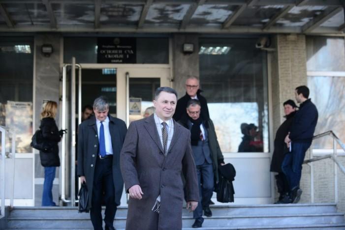 Судот бара Груевски да се клонира: Во исто време да седи во една судница, а во друга просторија во судот да слуша снимки