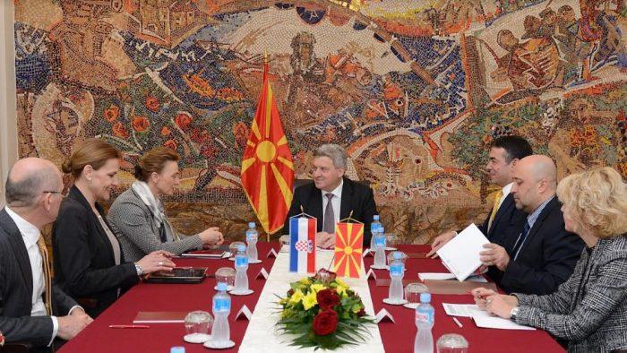 Иванов оствари средба со Марија Пејчиновиќ Буриќ  заменик претседател на хрватската Влада и министер за надворешни и европски работи