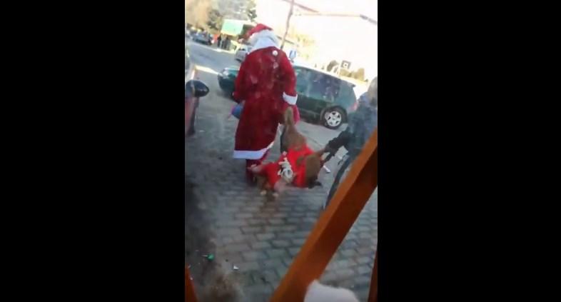 """ВИДЕО: """"Дедо Мраз"""" измачува срна во Струмица!"""