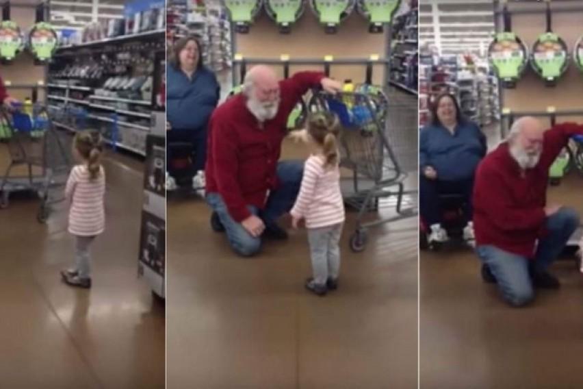Човек глумел Дедо Мраз за да не го разочара тригодишното девојче