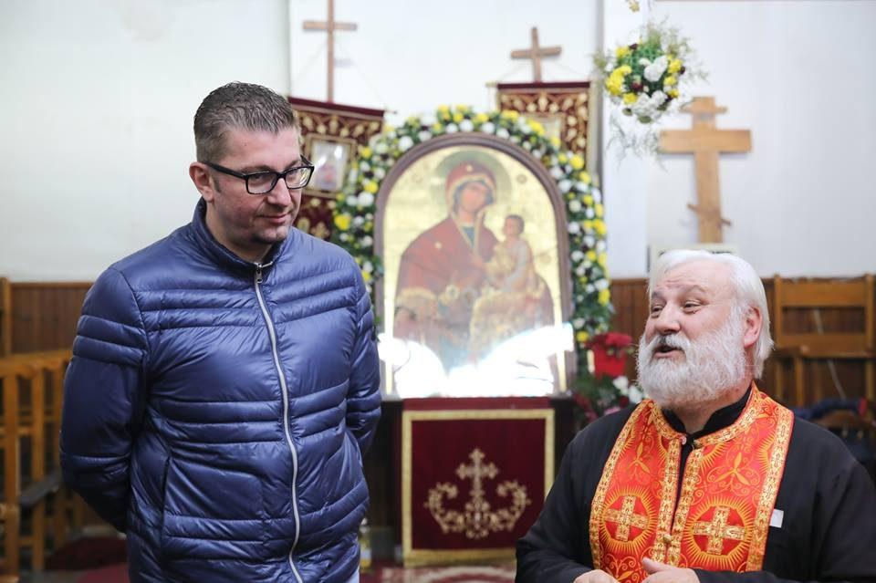 ФОТО ГАЛЕРИЈА: Мицкоски го посети храмот Св. Петнаесет Тивериополски Свештеномаченици во Струмица