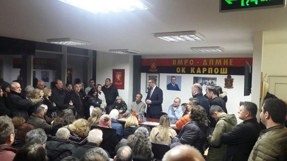 ФОТО: Мицкоски во посета на општинскиот комитет на ВМРО-ДПМНЕ Карпош