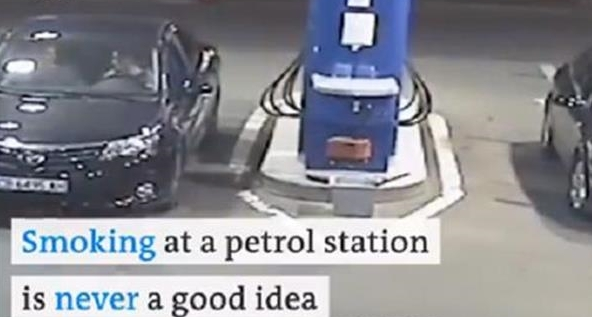 """ВИДЕО: Пушеше цигара на бензинска пумпа, па си доби """"лекција"""" која ќе ја помни цел живот"""