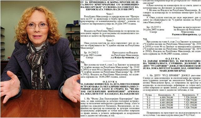 Објавени документи: Концесијата за Казандол е потпишана во 2005-та година од Радмила Шекеринска