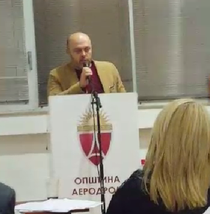 Советниците од ВМРО-ДПМНЕ во општина Аеродром ја напуштија седницата во знак на поддршка на притворените пратеници