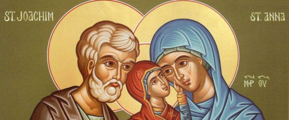 Ги славиме родителите на Богородица, среќен именден Ана и Јоаким