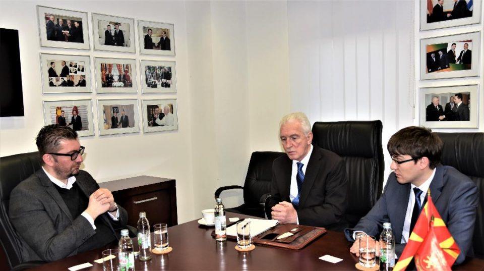 Мицкоски оствари средба со Шчербак: Неоправдано во притвор од страна на актуелната власт се држат 6 пратеници од Коалицијата предводена од ВМРО-ДПМНЕ