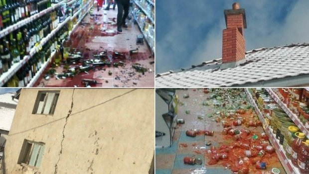 ЛУЃЕТО ПАНИЧНО БЕГААТ: Објавени снимки од земјотресот кој ја здрма и Македонија (ВИДЕО)