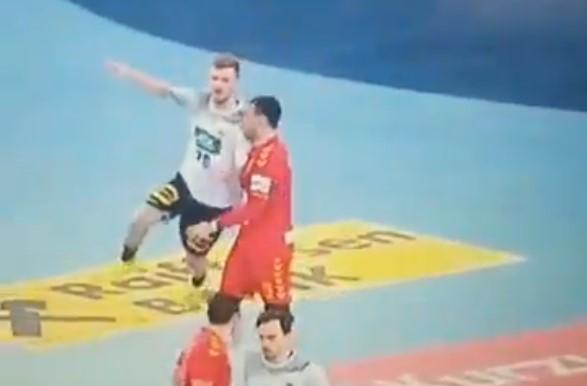 ВИДЕО: Германците заслужија чист црвен картон на 2 минути пред крајот!