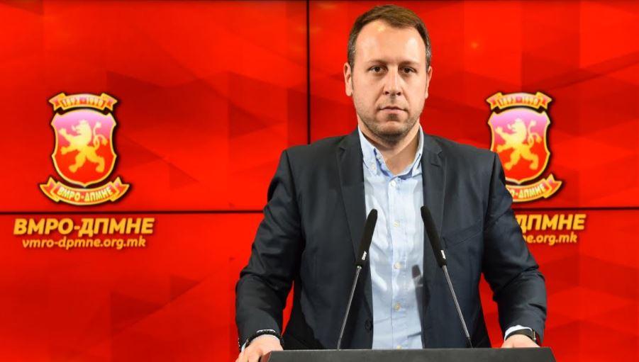 Јанушев: ВМРО-ДПМНЕ бара итно повлекување на Законот за јазици од страна Владата на СДСМ