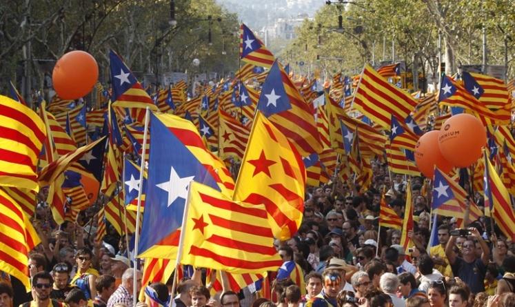 Масовни протести за независност на Каталонија