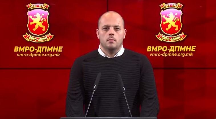 Костовски: СДСМ денес од затвор пушти криминалци, а заслужни граѓани кои не сториле ниту прекршок се држат во притвор