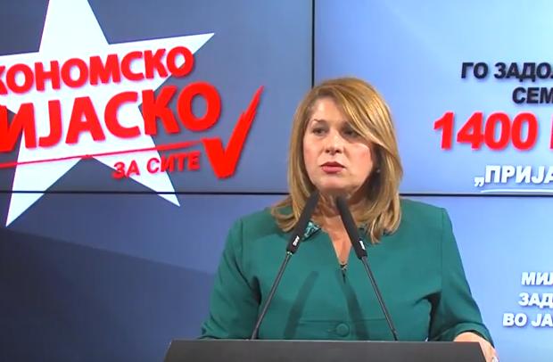 Кузмановска: Државата се задолжува, економијата паѓа, куповната моќ на граѓаните е загрозена- ова е билансот од 8 месеци власт на СДСМ