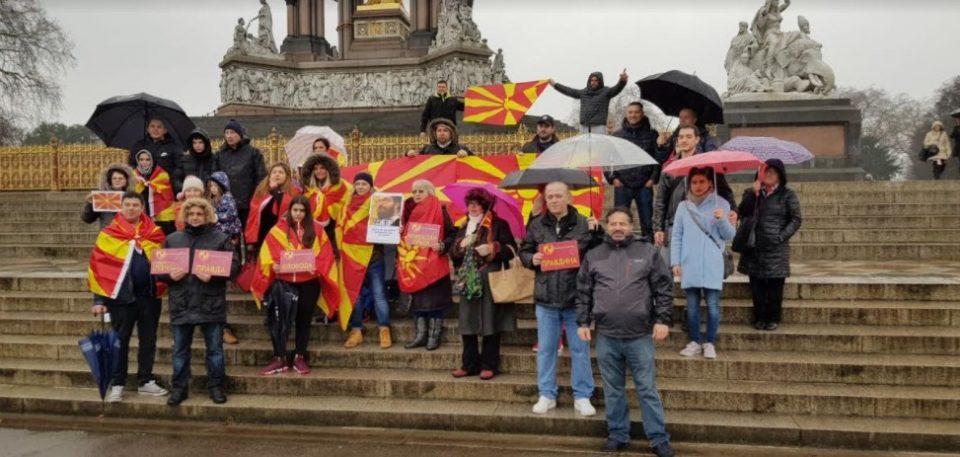 """""""Слобода за Игор, слобода за сите невини луѓе кои се затворени""""- побараа Македонците од Лондон (ФОТО)"""