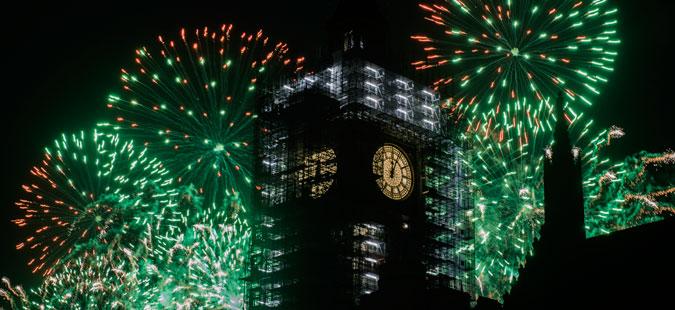 Со спектакуларен огномет во Лондон дочекана 2018 година