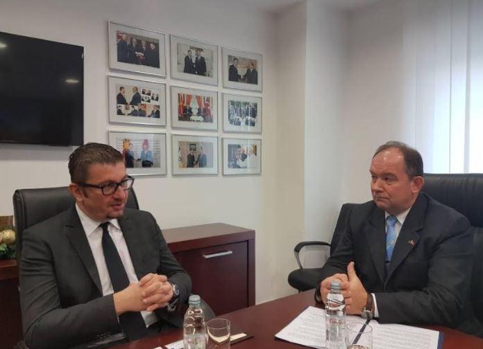 Мицкоски оствари средба со делегација на НАТО