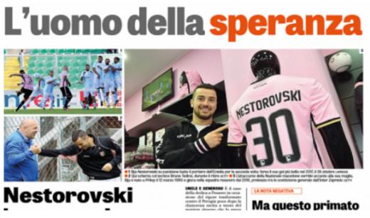 """""""Газета дело Спорт"""" со сторија за Македонецот: Тој е главен лик во Палермо, душата на тимот"""