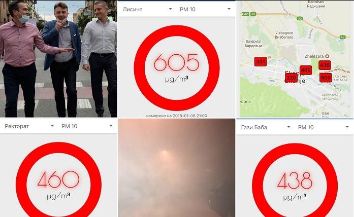 Еколошка катастрофа вечерва во Скопје: Мерачите на загаденост прегореа, а Шилегов и Заев не мрдаат (ФОТО)