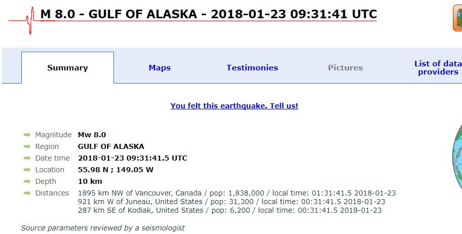 Аљаска ја погоди силен земјотрес од 8 степени – издадено предупредување за цунами!