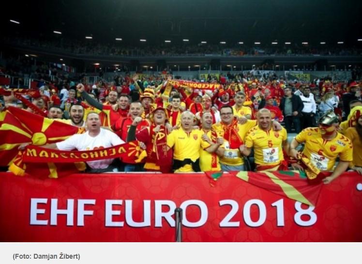 """ФОТО: Овој македонски навивач ги привлече погледите во загрепската """"Арена"""""""