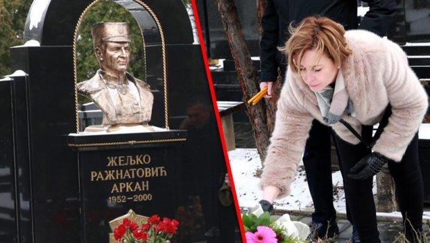 Ќерката на Аркан пристигна на гробот на својот татко, а со нејзината изјава ги налути Цеца и децата (ФОТО)