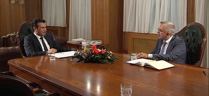 """Заев во интервју за грчката ТВ Алфа не се согласува дека """"Скопјаните се единствени наследници на Александар Велики"""""""