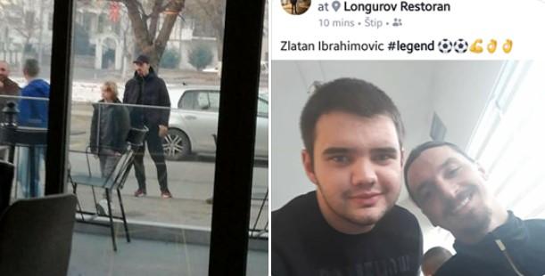 ФОТО: Златан Ибрахимовиќ фотографиран во Штип денеска?!
