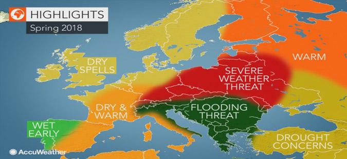 Американски метеоролози предупредуваат на ризик од поплави на Балканот