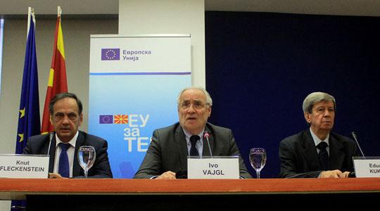 Европратениците Вајгл, Флекенштајн и Кукан во Скопје на Косап