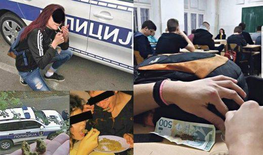 """Скандалозен Фејсбук профил """"Дрога Србија"""": Тинејџери објавуваат фотографии како се дрогираат на училиште"""