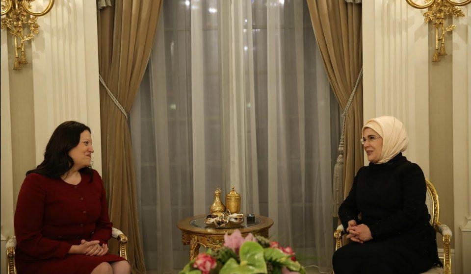 ФОТО: Сопругата на претседателот Иванов оствари средба со сопругата на Ердоган
