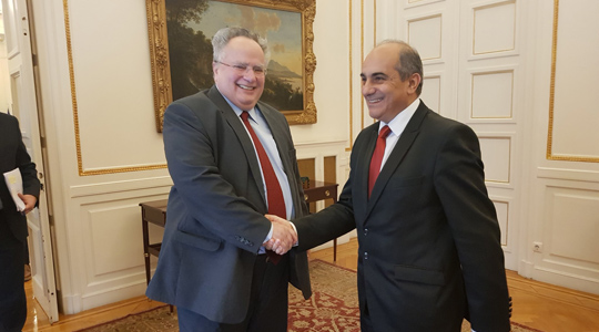 Името една од темите на средбата на Коѕијас со претседателот на кипарскиот Парламент