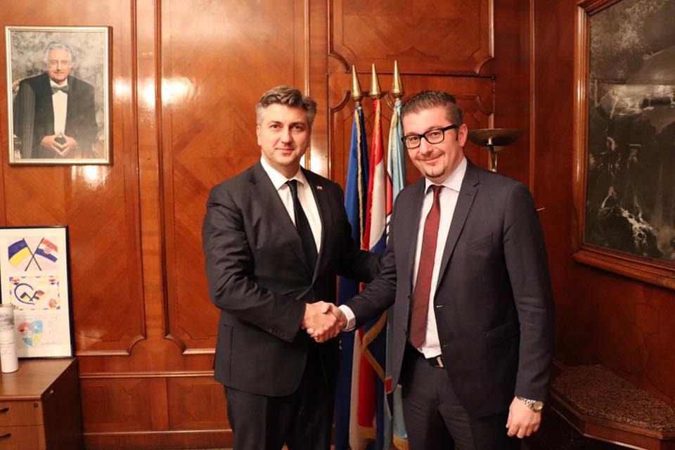 Мицкоски на средба со Пленковиќ: Македонија има капацитети, а ВМРО-ДПМНЕ енергија за големи работи за нашите граѓани и за нашата држава