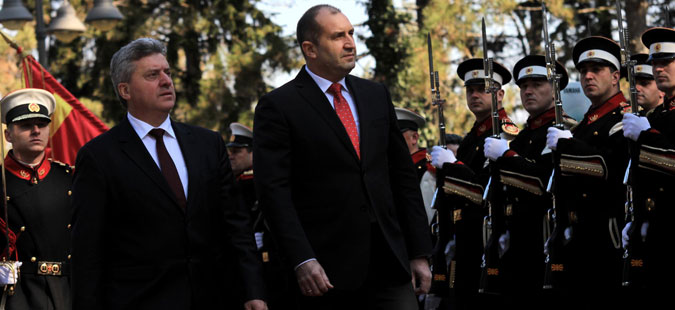 Радев ја почна официјалната посета на Македонија