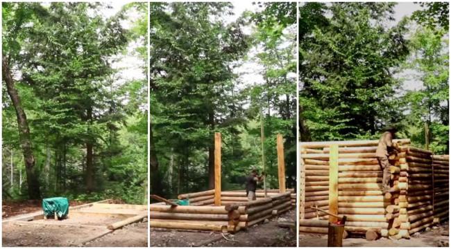 Сам без ничија помош направил прекрасна куќичка во шума – еве како изгледа (ВИДЕО)