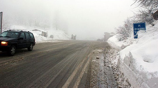 Снег на Стража и Попова Шапка