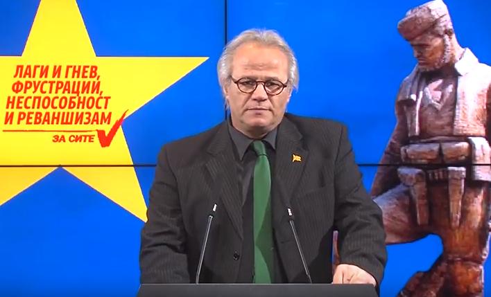 Јовановски: Рушењето на споменикот на Ќосето е акт на длабока фрустрација и гнев кон сопствениот народ, историја и култура- СДСМ со ова манифестира примитивизам и кукавичлук