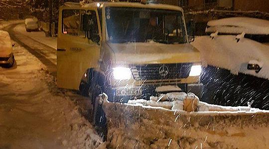 Во општина Кисела Вода фрлени околу 20 тони сол