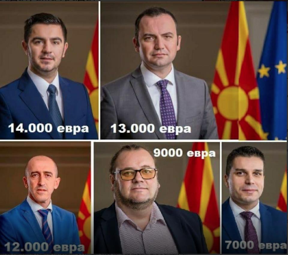 Заев излажа: Ветуваше дека ниту еден министер нема да потроши повеќе од 500 евра
