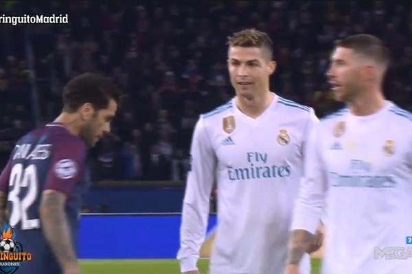 ВИДЕО: Срамен потег на Дани Алвес во дуел со Роналдо