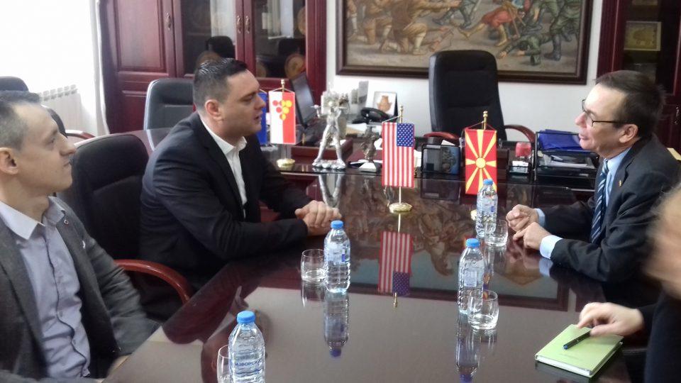 Средба на Митко Јанчев со американскиот амбасадор Бејли (ВИДЕО)