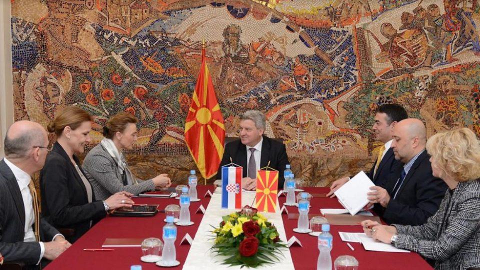 Иванов оствари средба со Марија Пејчиновиќ Буриќ, заменик претседател на хрватската Влада и министер за надворешни и европски работи