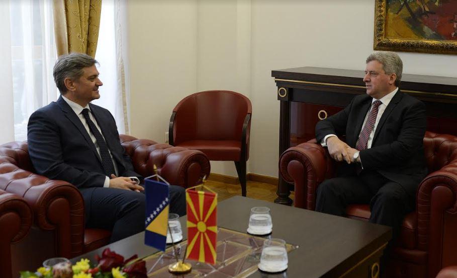 Средба на Иванов со претседавачот со Советот на министри на БиХ, Денис Звиздиќ