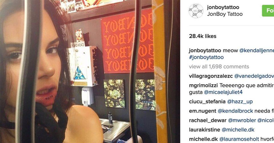 ФОТО: Кендал Џенер откри зашто ставила тетоважа на внатрешниот дел од устата