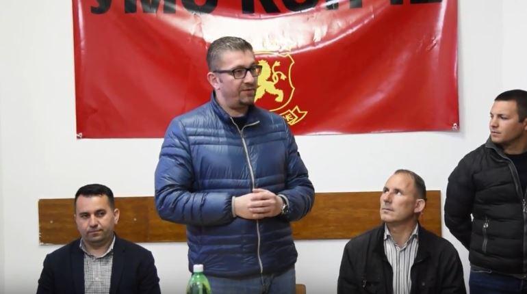 Мицкоски: Противуставниот закон за јазици има за цел да атакува врз соживотот на граѓаните и донесе немир