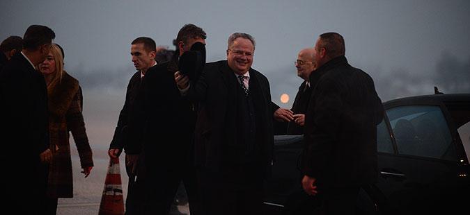 Коѕијас пристигна во Скопје, утре ќе има средби со владиниот врв и партиски лидери