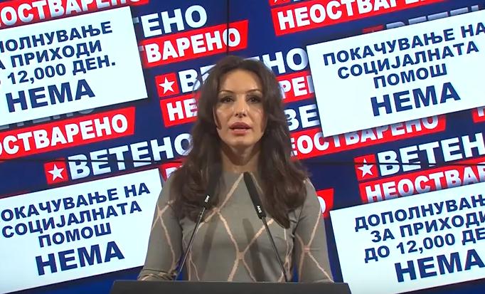 Попова: Животот дојде за Заев и функционерите околу него, додека граѓаните преживуваат