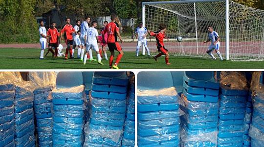 ФФМ донираше нови седишта за трибините на фудбалскиот стадион во Охрид