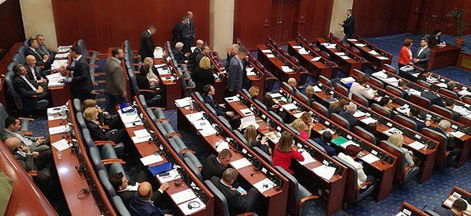 Мицкоски: Со девијантното и насилничко однесување во Собранието не беше испочитувана волјата на најмалку 450.000 граѓани