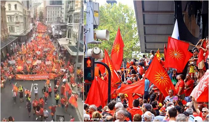 """""""Дејли Мејл"""": 30.000 Македонци протестираа во Сиднеј за зачувување на уставното име (ФОТО+ВИДЕО)"""